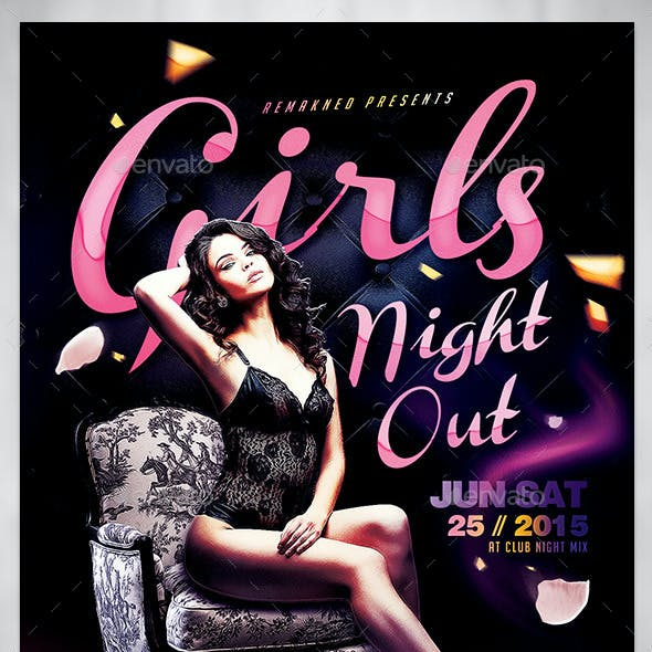 Girls Night Out I Flyer Template PSD