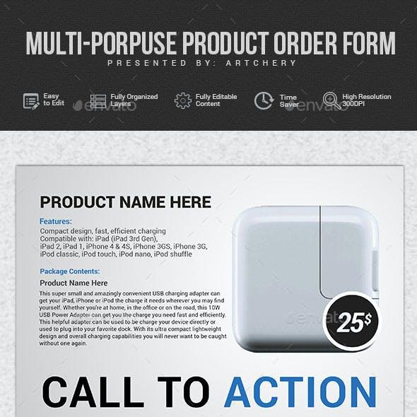 Multipurpose Order Form