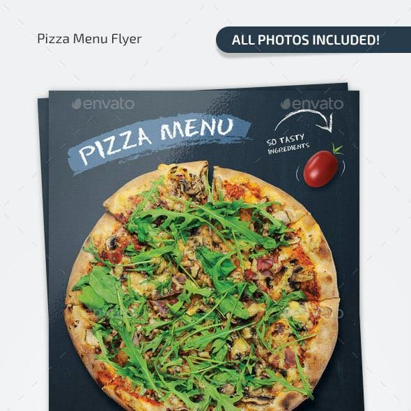 Pizza Chalkboard Menu