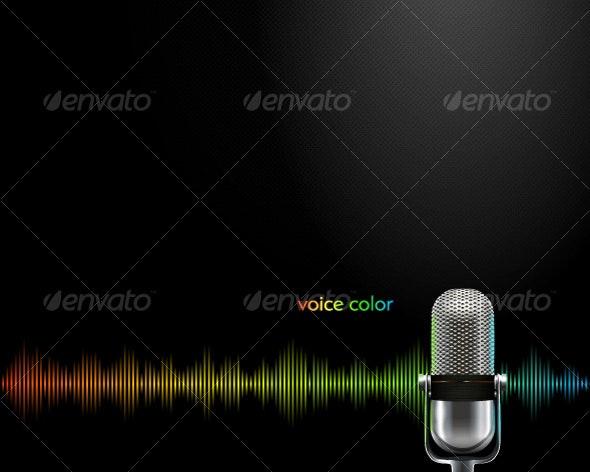 voice color - Objects Vectors