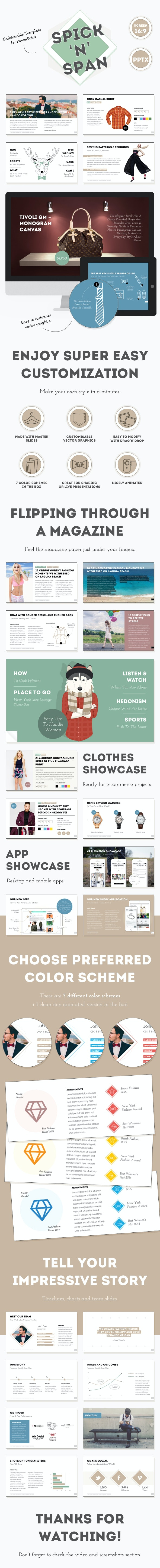 Spick and Span — Fashionable PowerPoint Template - Creative PowerPoint Templates