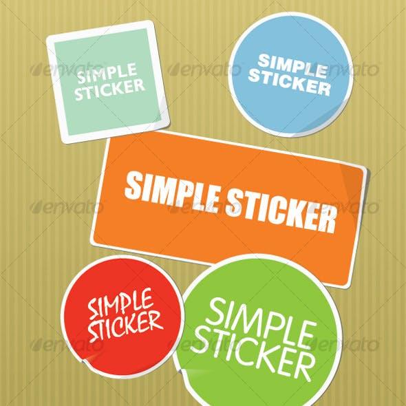 Simple regular shape stickers