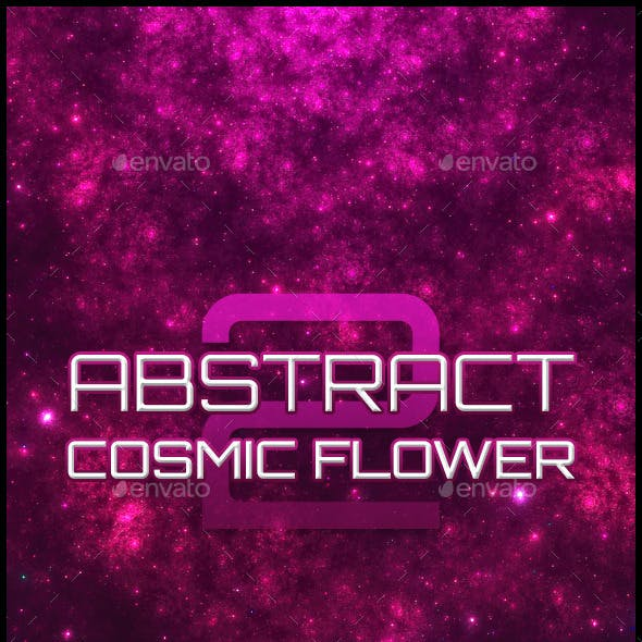 Abstract Cosmic Flower Backgrounds 2