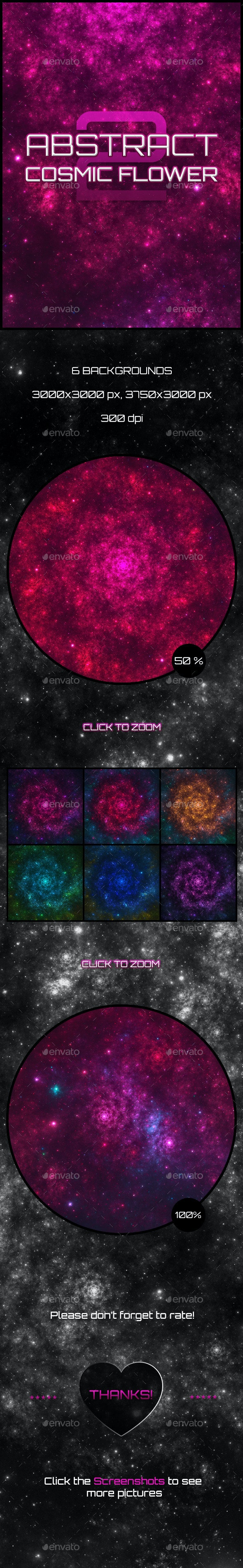 Abstract Cosmic Flower Backgrounds 2 - Abstract Backgrounds