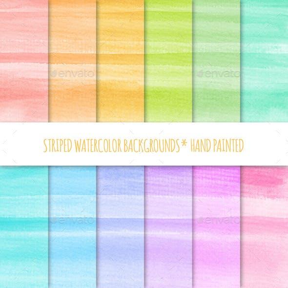 12 Watercolor Texture Backgrounds