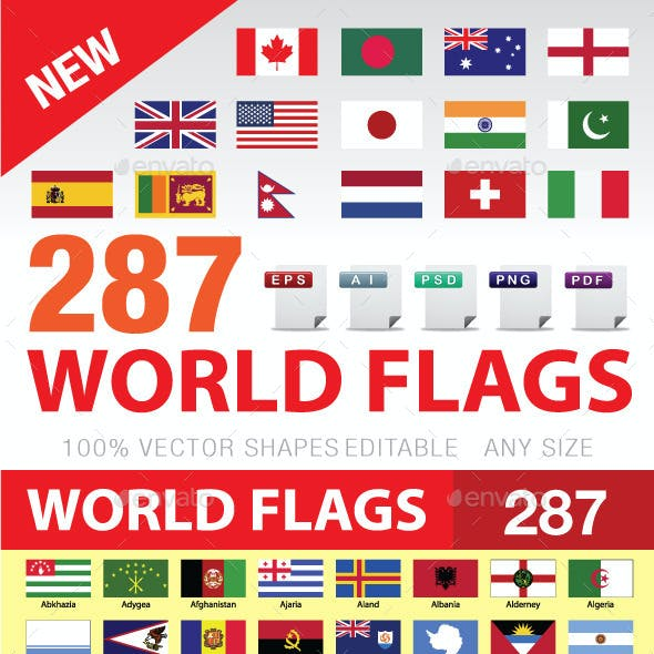 World Flags Graphics, Designs & Templates from GraphicRiver