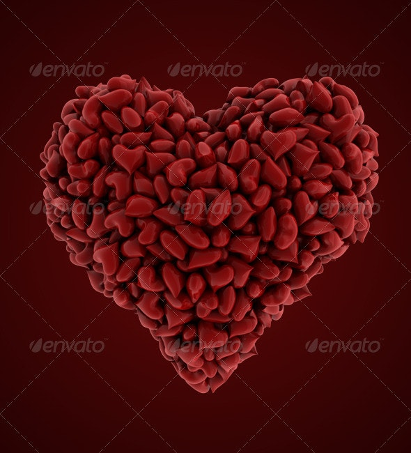 Heart of Hearts (MultiLayered) - Objects 3D Renders