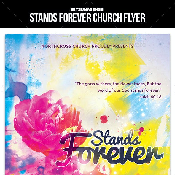 Stands Forever Church Flyer
