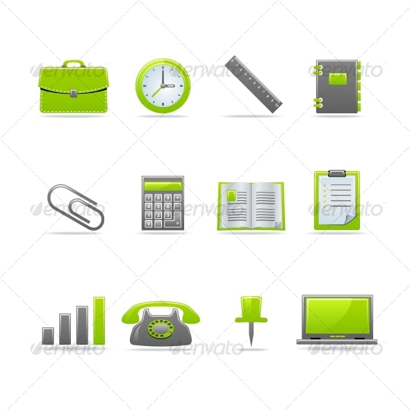 Glossy icon set 2 - Business Icons