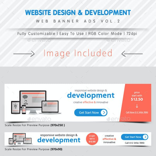 Website Design & Development Banner Ads Vol.2