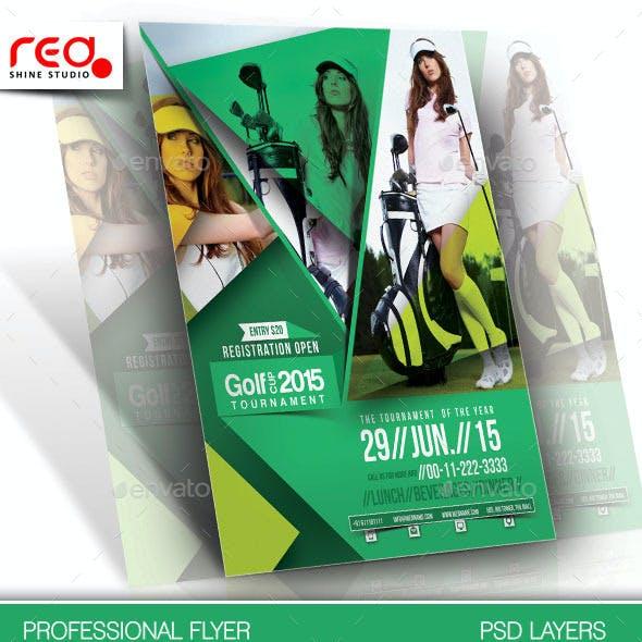Golf Cup Tournament Flyer Template - 2