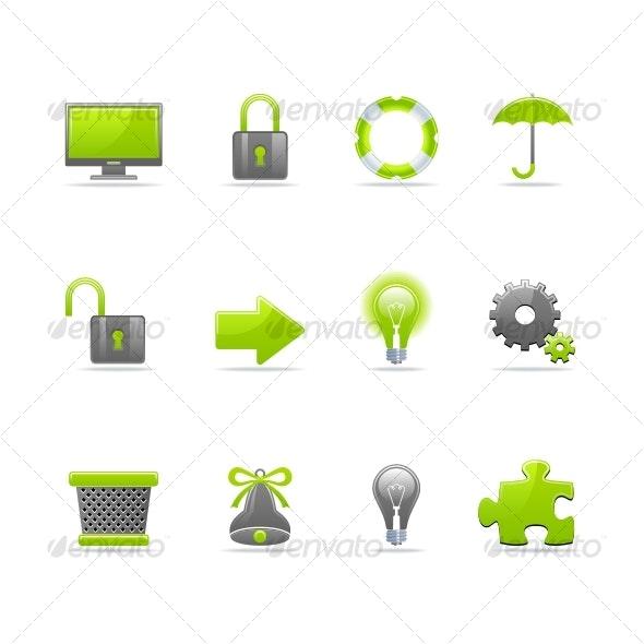 Glossy icon set 3 - Miscellaneous Icons
