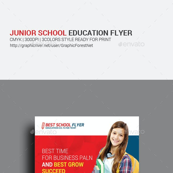 Junior School Education Psd Flyer Template