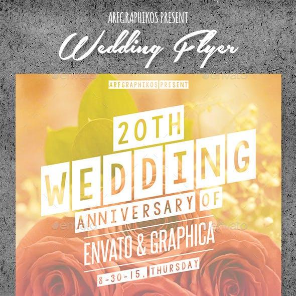 Wedding Anniversary Flyer