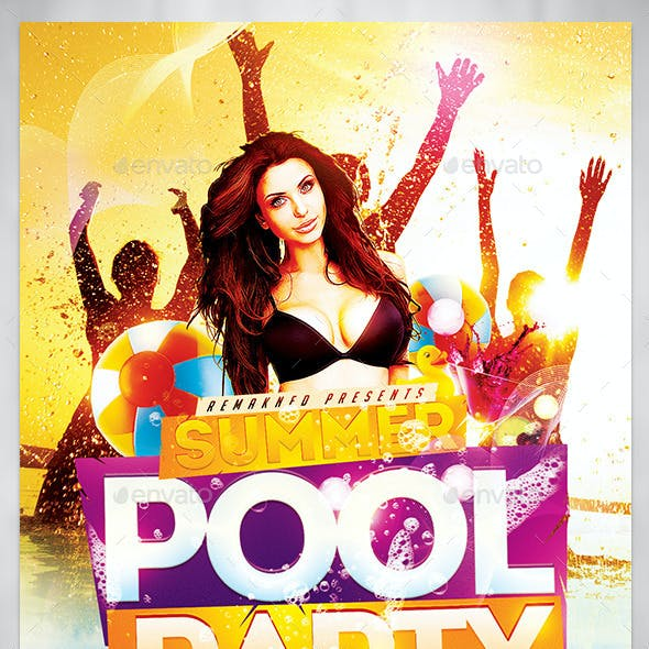 Summer Pool Party I Flyer Template PSD