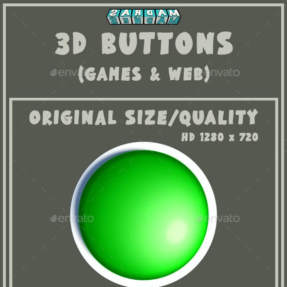 3D Button (Games & Web) (5 States & 3 Sizes)