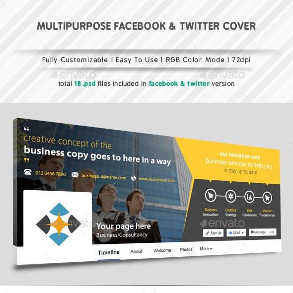 Multipurpose Facebook & Twitter Cover