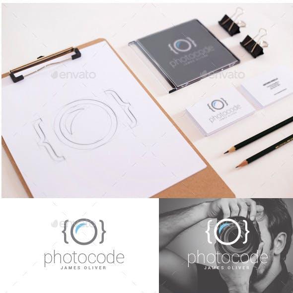 Photographer Photocode Logo