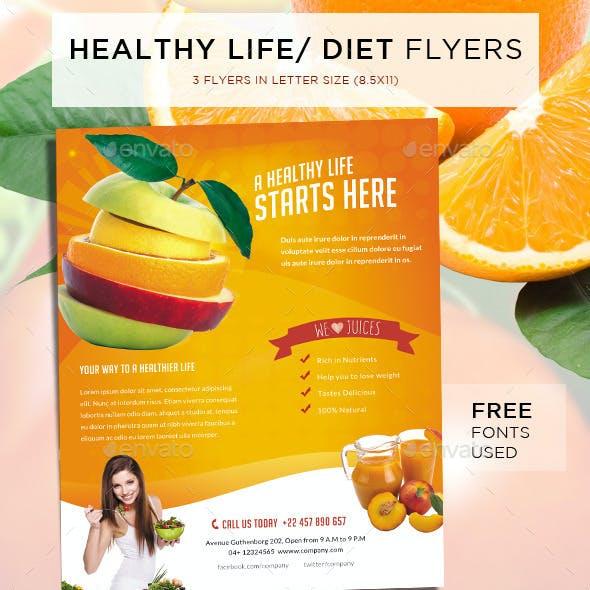 Healthy Life / Diet Flyers