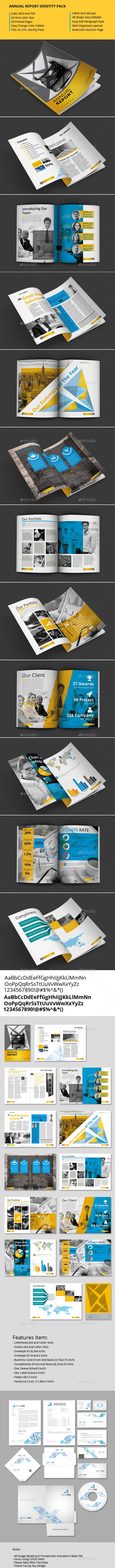 Annual Report Identity Pack - Proposals & Invoices Stationery