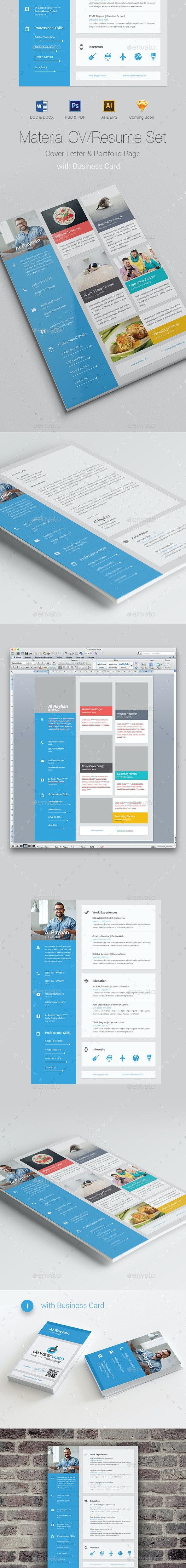 Material CV/Resume - Resumes Stationery