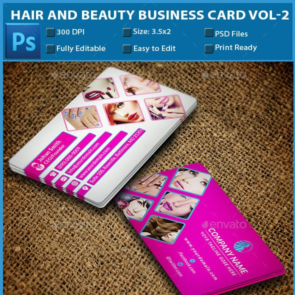 Hair and Beauty Business Card Vol-2