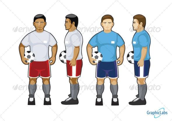 soccer sport character - Characters Vectors