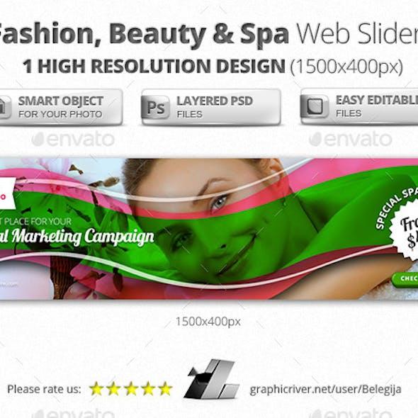 Fashion, Beauty & Spa Web Sliders