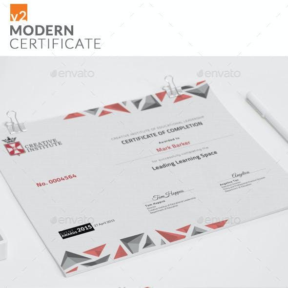 Modern Certificate v2