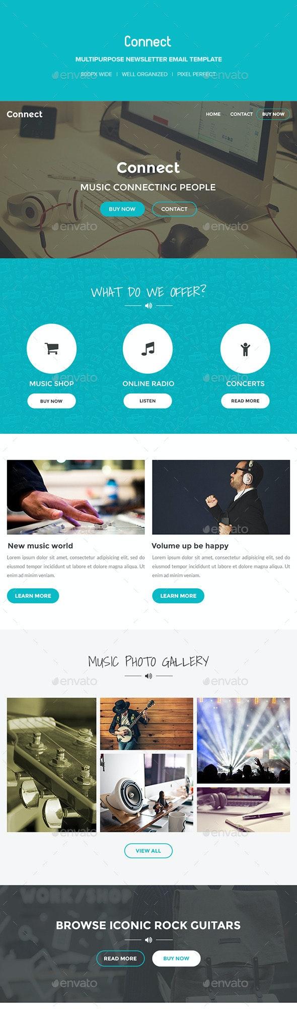 Connect – Multipurpose PSD E-Newsletter - E-newsletters Web Elements