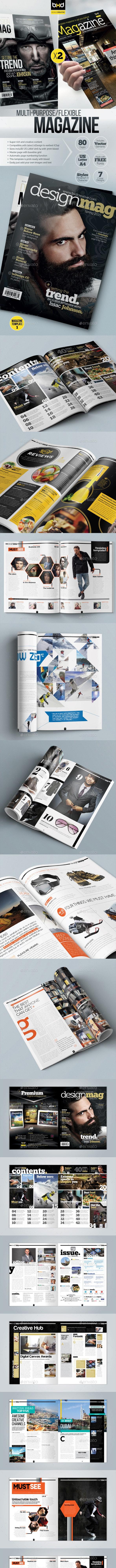 Magazine Template Bundle - InDesign Layout V3 - Magazines Print Templates