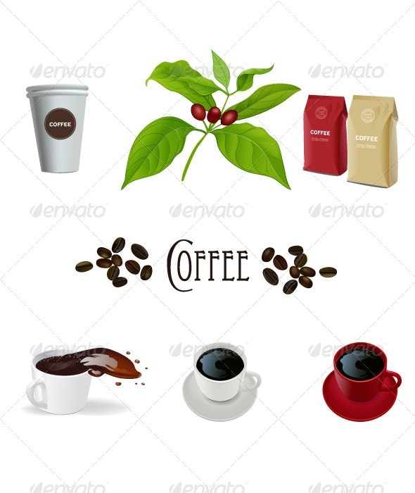 Coffee Vectors - Food Objects