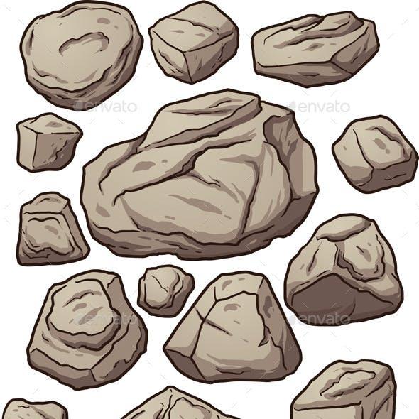 Cartoon Boulders