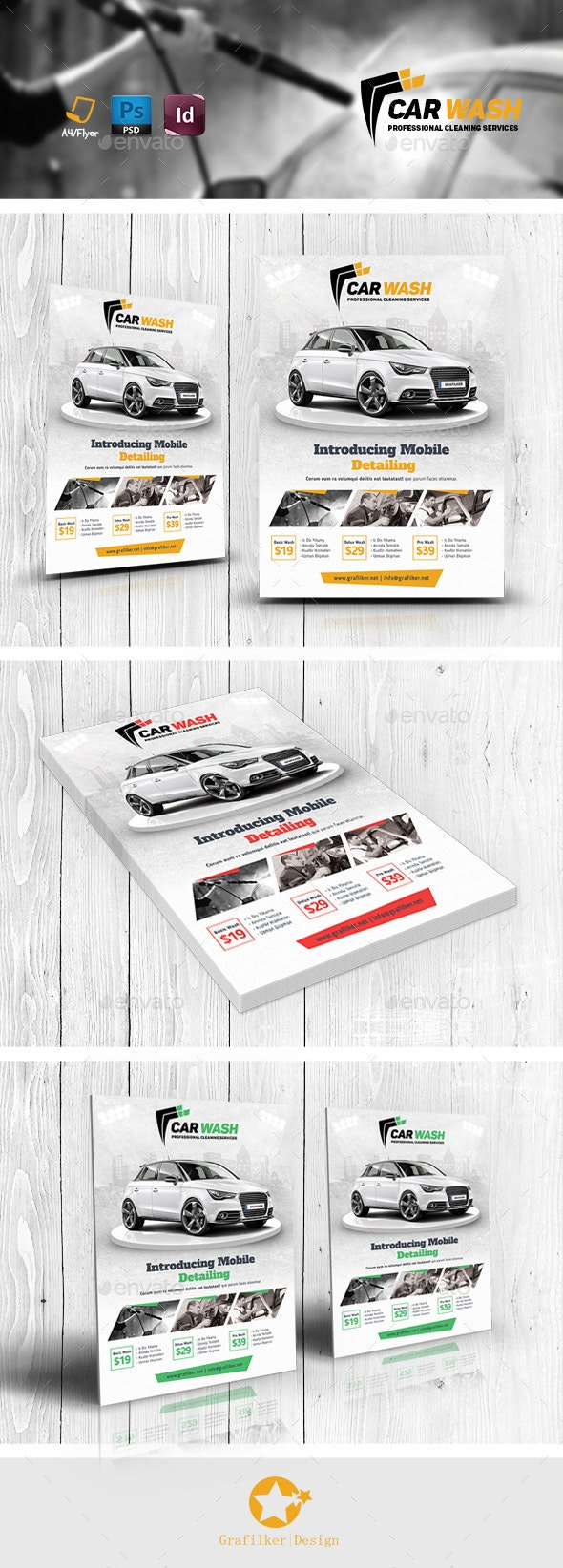 Car Wash Flyer Templates - Corporate Flyers