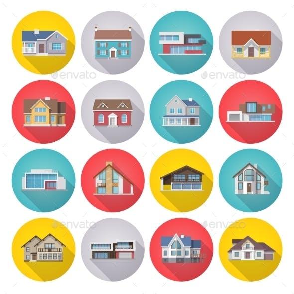 House Icons Flat Set