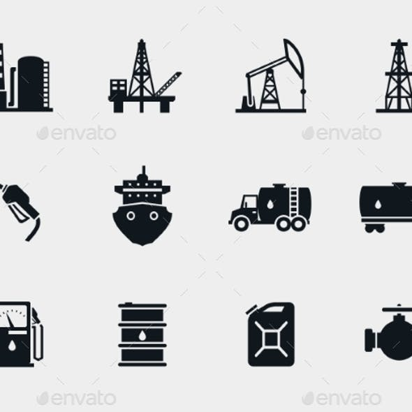 Petroleum and Oil Icons Set