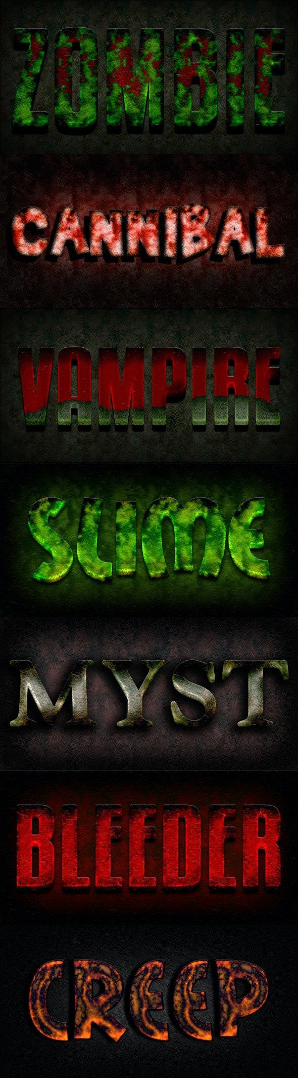 Photoshop Text Styles / Horror Vol.03 - Text Effects Styles
