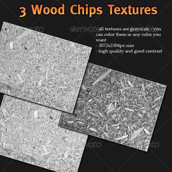 3 Wood Chips Textures
