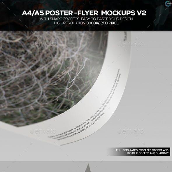 A4/A5 Poster-Flyer Mockups V2