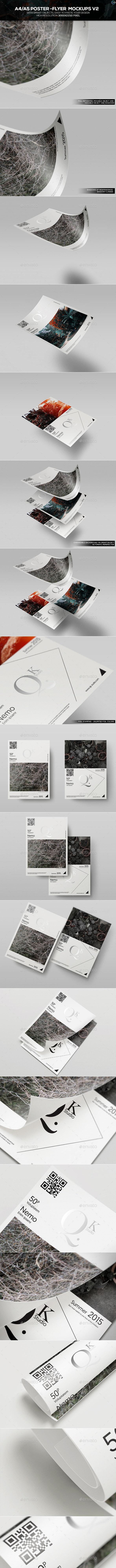 A4/A5 Poster-Flyer Mockups V2 - Flyers Print