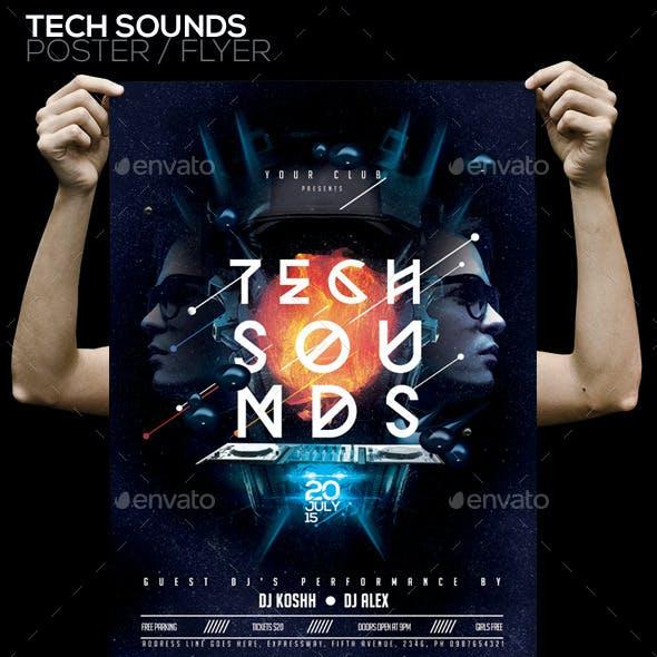 Tech Sound PSD Poster/Flyer Template
