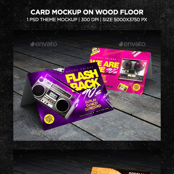 Flyer Card Mockup