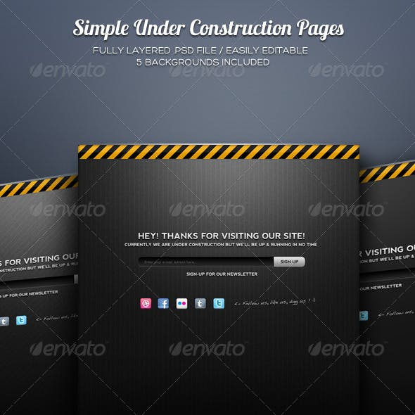 Simple Under Construction Pages