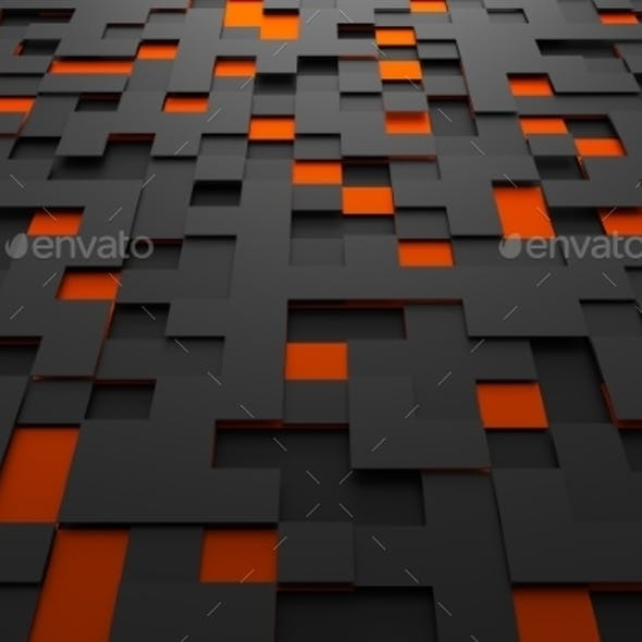 Abstract Futuristic Surface With Squares.