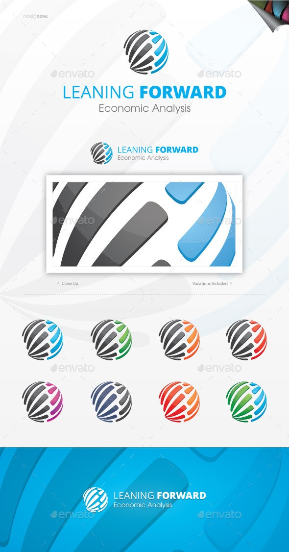 Leaning Forward Logo - Vector Abstract