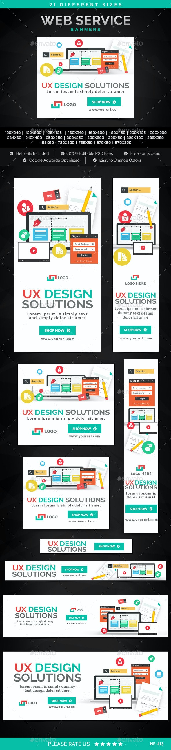 Ecommerce Banners - Banners & Ads Web Elements