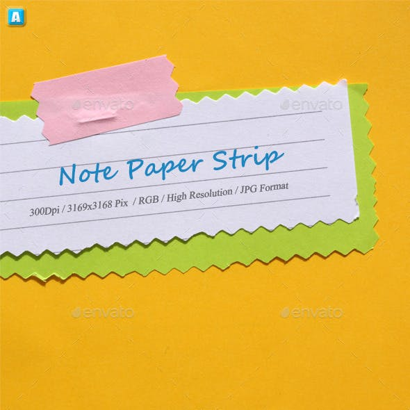 Note Paper Strip 0154