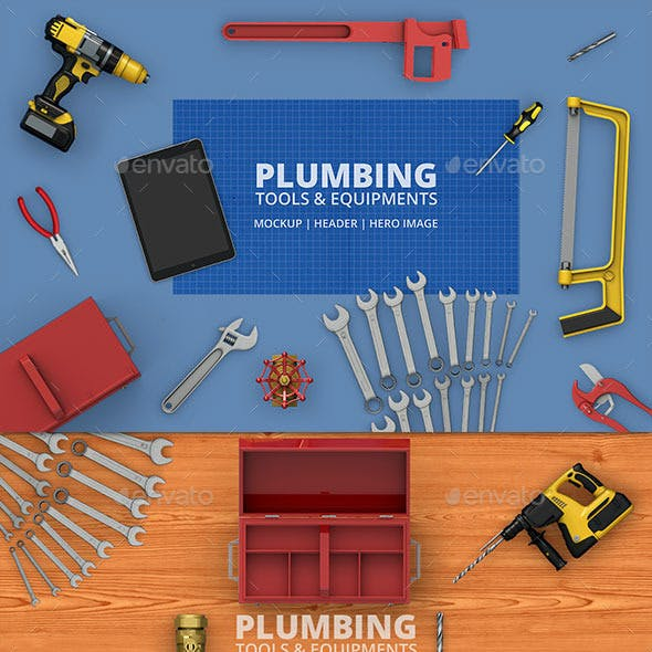 Plumbing Tools & Equipment's Mockup | Hero-Image