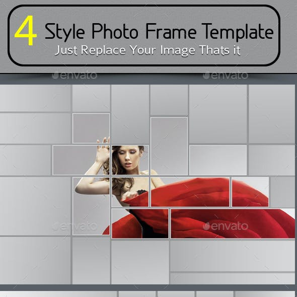 4 Style Photo Frame Template