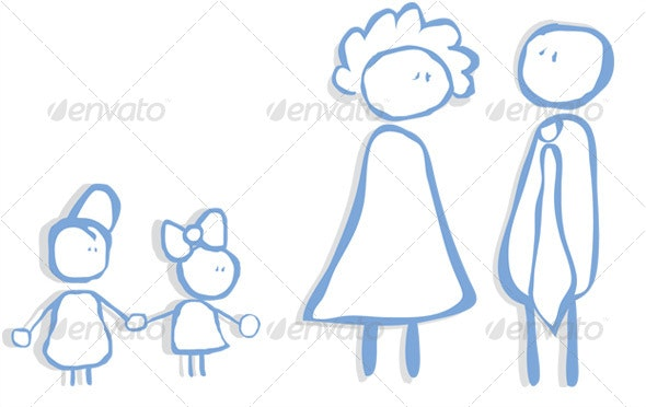 Child's Family - Characters Vectors